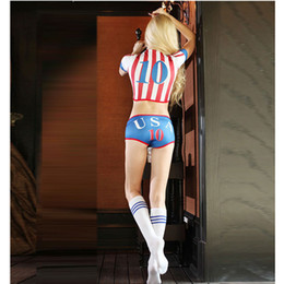 Costumes De Jeux Exotiques Pas Cher-Sexy Football Cheerleading Costumes pour les femmes New Fashion Exotic Apparel Game Clothing Haute qualité Dropshipping