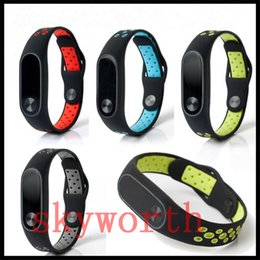 Chinese  For Xiaomi Mi 2 3 TPU Dual Color Silicone Smart Bracelet Wristband band Replacement Strap Miband 2 Accessories Strap environment watch band manufacturers
