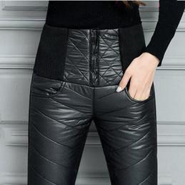 b75a76f694e78 Femmes Hiver Pantalon Pantalon Hiver Taille Haute Outer Wear Femmes Femme  Mode Mince Chaud Épais Duvet de Canard Pantalon skinny