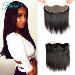 peruvian lace closure fast shipping UK - High Products 8A Cheap Peruvian Lace Frontal Closure Human Hair 13x4 Bleached Knots Straight Full Lace Frontal Pieces Fast Shipping