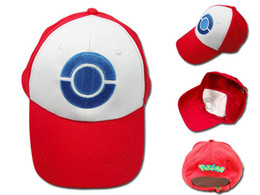 Chinese  Big Children Baseball Hockey Sneaker Hat Adult Ash Ketchum Trainer Hat Cap Mesh Ball caps Costume Cartoon Mesh Trucker HH7-210 manufacturers
