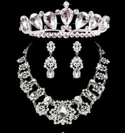 Wholesale Bridal crowns necklace Headbands Hair Bands Headpieces Bridal tiaras Wedding Jewelries Accessories Silver Crystals Rhinestone Pearls HT0129