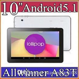 "Tablet Dual Hdmi Canada - 10"" Allwinner A83T Octal-Core Cortex A7 1.2GHz Android 5.1 tablet pc Capacitive 1GB 16GB Dual Camera HDMI Wifi USB OTG Bluetooth D-10PB"