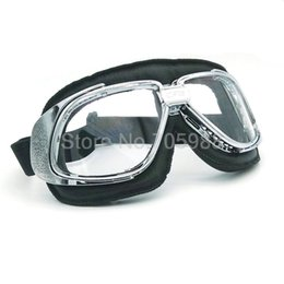 $enCountryForm.capitalKeyWord Canada - Lether goggles , Motorcycle Goggle Vintage Pilot Biker Leather For Motorcycle Bike ATV Goggle