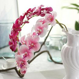 real touch orchids Canada - REAL TOUCH ORCHIDS 72cm Artificial Flowers Simulation Princess Butterfly Orchid Phalaenopsis for Wedding Flower 7colors rubber coating PF13