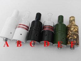 mod style glasses 2019 - 6 Styles Colorful Glass Donut Vaporizer Wax Ceramic Donut Coil wickless Ceramic Donut Vaporizer dry herb wax Atomizer fo