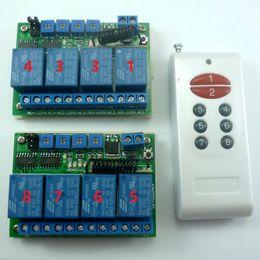 12v Delay Module Canada - 1x8Key 433M PT2262 Keyfob + 2x4Ch DC 12V Multi-function time delay relay Module