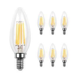 Discount flame lights Led Candelabra Bulb Base COB LED Filament Flame Vintage Candle Light Bulb For Home,Kitchen,Dining Room,Bedroom,Living Ro