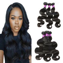 $enCountryForm.capitalKeyWord NZ - Body Wave 3 Bundles Hair Wholesale Vendors Brazilian Peruvian Malaysian Virgin Human Hair Weave Bundles Wet and Wavy Extension 100g Pc