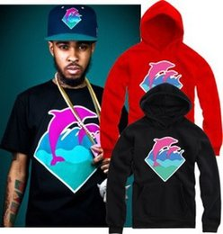 Barato Hoodie Cor-de-rosa De 4xl Do Golfinho-2016 New Autumn Winter Men Moda Roupa Pink Dolphin Hoodies Sweater para homens Hiphop Sportswear Atacado M-4XL