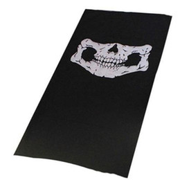 Half face Head mask online shopping - High Quality Skull Balaclava Traditional Face Head Mask Gator Black bike skateboard Hood Costume Party Headgear