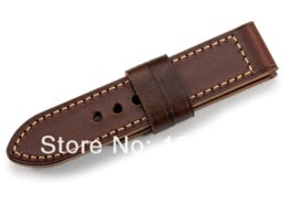 $enCountryForm.capitalKeyWord Canada - Free Shipping 1psc lot Vintage Brown Sports Watch Bands 26mm Wide Leather Watch Strap For Panerai Pre-V Buckle