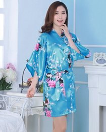 Wholesale Silk Kimono Robes Canada - Hot Sale Silk Satin Wedding Bride  Bridesmaid Robe Short Kimono 5d4e7c6a8