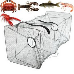 Crab Trap Bait Canada - Fishing Bait Trap Dip Cast Net Cage Crab Minnow Crawdad Shrimp Foldable F00030 CAD