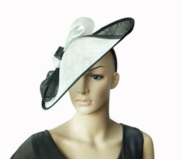 $enCountryForm.capitalKeyWord Canada - BLACK WHITE BIG Sinamay Hat Fascinator saucer fascinator for Kentucky Derby,wedding,party,races,ascot,diameter 39cm