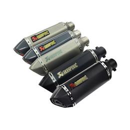 Venta al por mayor de Modificado universal Akrapovic yoshimura silenciador de la motocicleta tubo de escape CB400 CB600 CBR600 CBR1000 YZF FZ400 Z750 YZF600