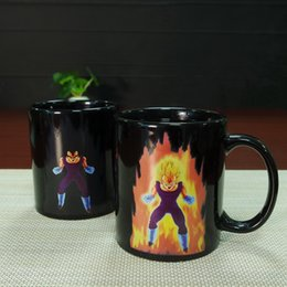 cups balls magic Canada - DHL free shipping 48pcs best gifts dragon ball vegeta ceramic heat sensitive magic color changing mug tea cups