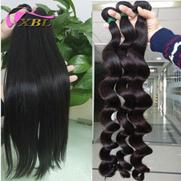 Long weave hair online shopping - Virgin Peruvian Human Hair Longer Hair Inch Loose Wav And Straight DHL Pieces A
