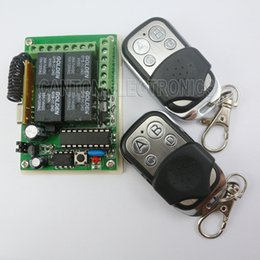 receiver board Canada - DC24V RF Wireless Remotes Key 433MHZ HCS301 Rolling Code Relay Receiver Board