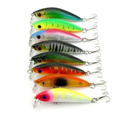 Lures Diving Plastic NZ - 8PCS Bright Colorful Minnow Hard Bait 9cm 8g Lifelike Fishing Lures with Hook Diving Perch Wobbler Plastic Baits Fishing Tackle