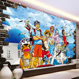 Anime wAllpApers online shopping - One Piece Photo wallpaper Custom D Wallpaper Japanese anime Wall Murals Cartoon Kids Bedroom TV backdrop wall Art Room decor Monkey D Luffy