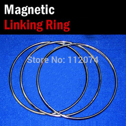 Rings Magic Trick NZ - Wholesale- Large Size Magnetic Linking Ring 3 Rings Set,Diamter 31cm,Stainless Steel - Magic Tricks,Stage,Illusion,Gimmick,Comedy,Wholesale