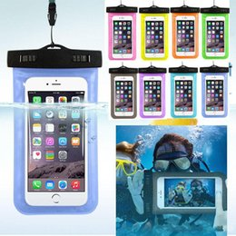 water proof phones Canada - Universal water proof case waterproof phone bag for samsung galaxy s7 s6 Iphone 5 6 6S Plus,Cell Phone Dry Bag