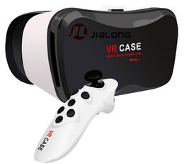 Virtual Reality Phone Canada - 2016 Professional VR CASE 5Plus 3D Glasses Virtual Reality Gogle cardboard 3D Video for 4.0-6.3 inch Phone+ Bluetooth Remote