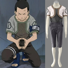 cosplay naruto characters UK - Nara Shikamaru Cartoon Character Costumes Naruto Ninja Cosplay Costume One Generation For Halloween Party Adult Unisex Suit