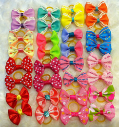 Discount head band supplies - mix style Handmade Dogs Bow headband Ties Dog head hair band hair ornaments cat nick ties Jewelry Accessories decoration