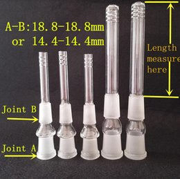 $enCountryForm.capitalKeyWord Canada - Super Glass Downstem Pipe 14.5mm 18.8mm Female 14mm 18mm Thick Glass Downstem Diffuser Glass Down Stem Glass Pipes Bong Glass Downstems