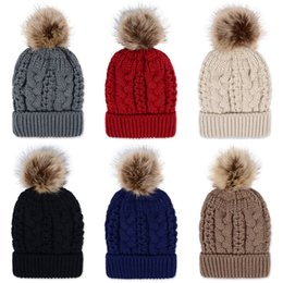new winter caps with fur pompom colorful thickening warm gorro masculino knitted hat beanie for women and men