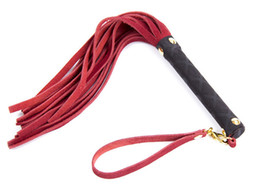 Chinese  Flirt Fetish Genuine Leather Flogger Whips In Audlt Games For Couples,Porno Erotic Sex Products Toys For Women And Men manufacturers