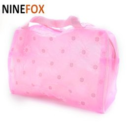 cute waterproof bag Australia - Wholesale- 2015 New fashion Cute Hot Floral Print Makeup Bags Transparent Waterproof Cosmetic Bags case Toiletry Bathing Pouch