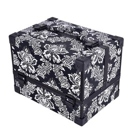 China New Design Leopard Checks Leaves Abs Women Make Up Box Makeup Case Beauty Case Cosmetic Bag Multi Tiers Lockable Travel Cosmetic Bag cheap leopard makeup box suppliers