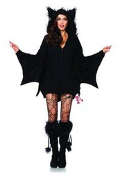 Women Costumes Angels Canada - 2016 wedding dresses halloween hot selling Women evening dresses Hisionlee Women's Cozy Bat Costume Plus-Size Halloween Cosplay Masfor party