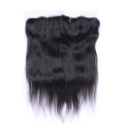 Tangled Lights UK - 7A Quality Peruvian 13*4 Straight Hair Lace closure No Shedding Free Tangle Full And Thick Free Shipping Fee DHL