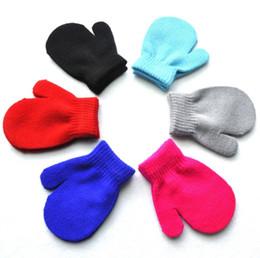 $enCountryForm.capitalKeyWord NZ - kids gloves solid knitting warm glove children boys Girls Mittens Unisex Gloves 6 Colors free shipping