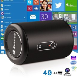 WindoWs mini smart pc online shopping - Latest G2 Windows Mini PC Intel Bay Trail Quad Core Chipset GB GB WiFi G GHz Bluetooth4 Smart TV Box with Camera MP