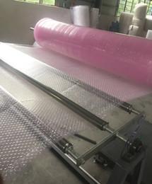 venda por atacado Atacado-0.3 * 60m Novo pacote de amortecedor em forma de coração Bubble Roll Rolo de ar embalagem de ar embalagem de embalagem de embalagem de espuma de espuma proteção espuma rolos de espuma