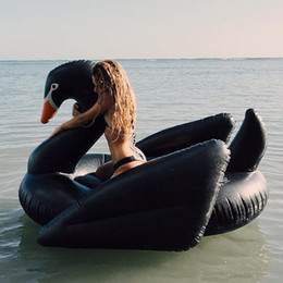 $enCountryForm.capitalKeyWord Australia - Giant Inflatable Black Swan Float 190cm Big Ride On Animal Toys Seat For Floating Boat Adults Outdoor Swimming Infant Toy Swim Ring #T10