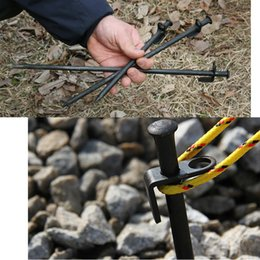 Wholesale 20cm inch Steel Iron Camping Tent Nail Stakes Pegs Canopy Stake Tent Stake Peg For Outdoor Camping Canopies Garden Equipment