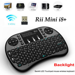 $enCountryForm.capitalKeyWord Canada - Originail Rii Mini i8+ Wireless Keyboard with Backlight Touch Pad 2.4G Fly Air Mouse Remote Control Russian Gamepad for MXQ M8S MXIII TV Box