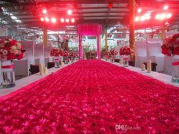 $enCountryForm.capitalKeyWord Canada - Big Discount 10M per lot 1.45 m Width Romantic 3D Rose Petal Carpet Aisle Runner For Wedding Backdrop Decorations Shooting Props
