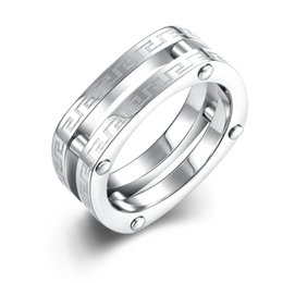 Discount Steel Double Layer Rings 2017 Steel Double Layer Rings