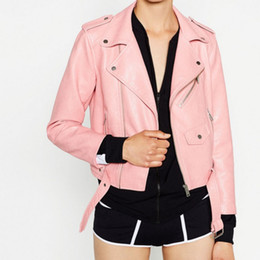 Discount Hot Pink Leather Motorcycle Jacket   2017 Hot Pink ...
