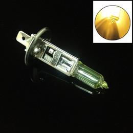 Großhandel Neue 2 stücke 12 V 55 Watt H1 gold licht Xenon HID Halogen Auto Kopf Glühbirnen Lampe 6500 Karat Auto Teile Auto Lichtquelle Zubehör