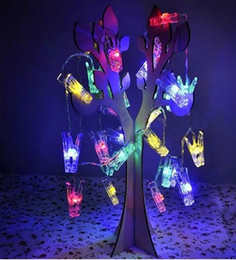 $enCountryForm.capitalKeyWord Canada - Holiday Lighting 2 M 20 LEDs DIY Photo Clip card decorative chain battery operated lighting lamps home for christmas party