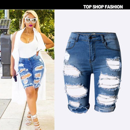 Discount Distressed White Denim Shorts | 2017 Distressed White ...