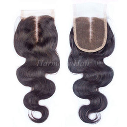 $enCountryForm.capitalKeyWord UK - Brazilian Body Wave Lace Closure Bleached Knots,4x4,Middle Part,Best Unprocessed Brazillian Human Hair Top Closure